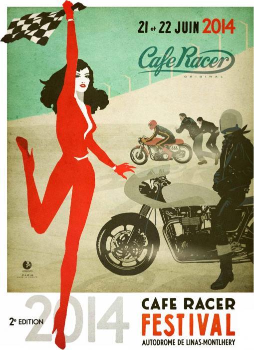 Affiche cafe racer festival 2015