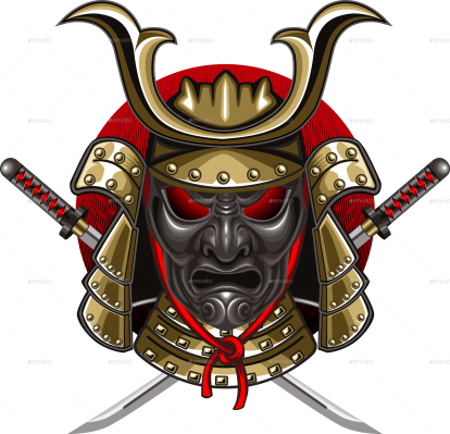 Demon samurai mask 4